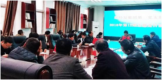 区经发集团2018年第12期第一党支部主题党日活动